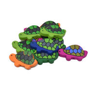 Craft Wood Turtle Deco Beads, 1-5/16-Inch, 10-Piece