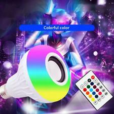 12W LED Wireless Bluetooth Music Light Bulb RGB E27 Lamp Bulit-in Audio Speaker