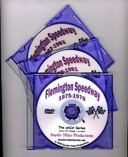 """3 - Flemington Speedway DVDs from the """"unCut Series"""" - Snyder Video Productions"""