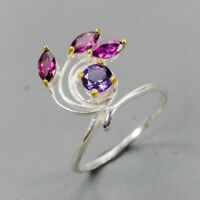 Amethyst Ring Silver 925 Sterling Vintage5x5mm Size 8.5 /SRT20-37-2