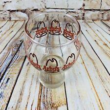 Arby's Vintage Globe Goblet Glass Mug On Pedestal Collector