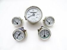 NEW WILLYS JEEP WHITE FACE SPEEDOMETER,TEMP,OIL,FUEL,AMP GAUGES KIT#G437 @(437)