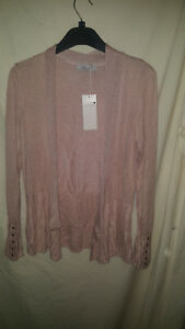MARKS AND SPENCER PINK/NUDE  COLOURED CARDIGAN NEW / TAGS SZ 10 29.50 ON TAG