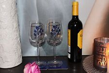 65th Wedding Anniversary Wine/Glass/Coaster Gift: Set Blue Sapphire