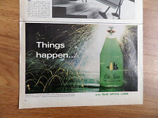 1966 Old Spice Shulton Ad Old Spice Lime Cologne  Things Happen
