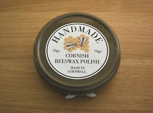 Cornish Beeswax Polish 70gr for Wood and Furniture. Hand Made in Cornwall