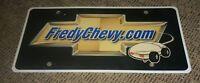 Dealer License plate FREDY CHEVY logo CHEVROLET Fredericktown Ohio dealership