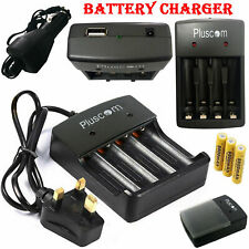 18650 Li-ion Battery Charger UK-Plug Rechargeable 4 Slots for 4X 3.7v Batteries