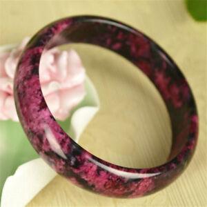 Bracelet  Natural jade stone Women  Amulet New Peach Blossom Jade 60mm