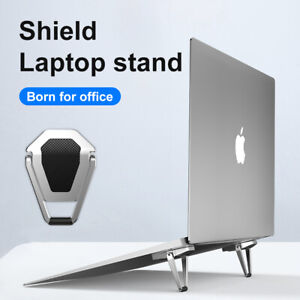 Metallic Portable Laptop Stand, Foldable small and portable Laptop stand Holder