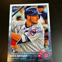 "2015 Topps Kris Bryant ""ROY 2015"" Signed Jumbo RC Rookie Auto MLB Authenticated"