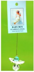 Di Giuliani Crystal Baby Boy Hanging Angel