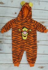 Disney Baby Tigger One Piece Romper Suit With Hood 12 Months Halloween Costume