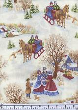 Charming Snowy Christmas Quilt Fabric - Free Shipping - 1 Yard