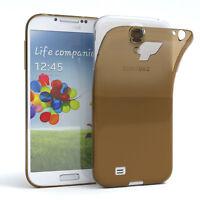 Ultra Slim Cover für Galaxy S4 Case Silikon Hülle Transparent Braun