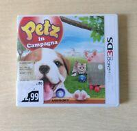 PETS IN CAMPAGNA NINTENDO 3DS 2DS ITALIANO COMPLETO PAL CUCCIOLI ANIMALI