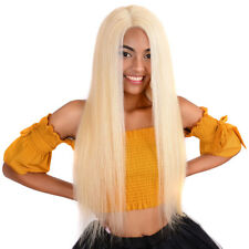 20inch #613 Blonde European Human Hair Lace Front Wigs Silky Straight for Women