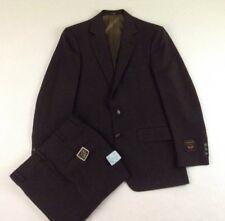 New Botany 500 Combinaire Brown Stripe Suit Men's Size 40R  Unhemmed Pants 34x36