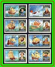 UMM AL QIWAIN = EXPLORERS MNH  COLUMBUS,COOK, SAIL SHIPS, VIKINGS, POLAR