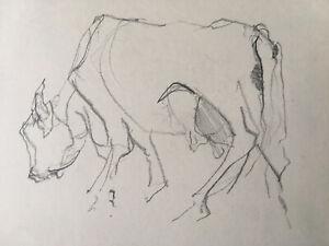 JULIAN DYSON 1936-2003 Original Drawings x 2  in Pencil of a Cow