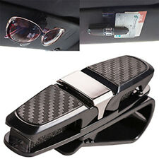 Car Auto Sun Visor Glasses Sunglasses Card Ticket Holder Clip Accessory Black