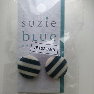 Suzie blue stripped Diamantohrringe