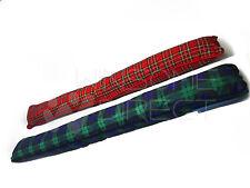 Red /Blue & Green Tartan Draught Excluder Sausage Fabric Door Window Draft Guard