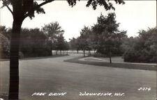 Waukesha WI Park Drive Real Photo Postcard
