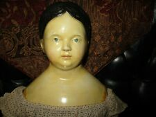 """26"""" Antique & Very Early Papier Mache Doll"""