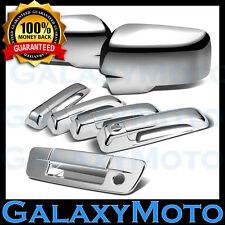 13-18 Dodge Ram Chrome Mirror w/Light+4 Door Handle+Tailgate w. KH no CM Cover
