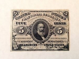 ~ US FRACTIONAL CURRENCY SPECIMEN 5 CENTS 3RD THIRD  ISSUE - FR 1236sp - CLARK