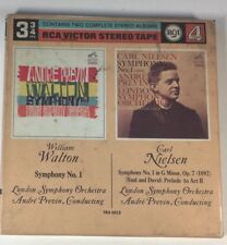 Andre Previn Walton Nielsen Double Album Tested Guaranteed 3-3/4ips Near Mint