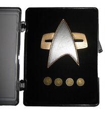 STAR TREK Voyager Communicator Pin Set deluxe - 5 teilig orig Replica