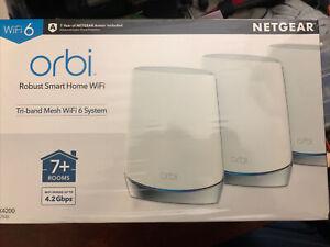 NETGEAR Orbi Smart Home Tri-band Mesh WiFi 6 System Router & Extender RBK753S