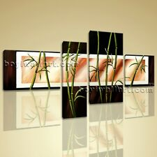 Feng Shui Zen Art Giclee Artworks Bamboo On Canvas Stretched Prints Large Green