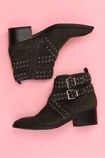 GRACELAND Stiefeletten mit Nieten 38 schwarzgrün Schuhe Boots