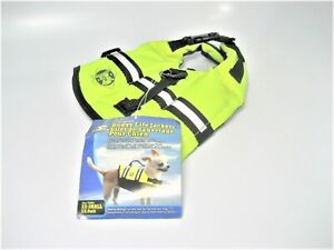 Paws Aboard 1100 XXS Marine Dog Canine Neon Green Reflective Life Jacket *NEW*
