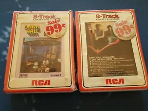HALL AND OATES 8-TRACK NEW & SEALED Along The Red Ledge & Bigger Than Both Of Us