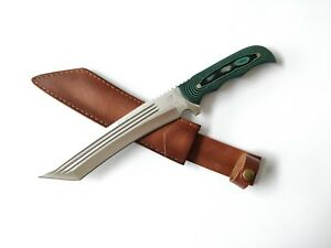 Full Tang Hunting/Camping/Tactical/ outdoor Heavy Duty Knife with Leather Sheath