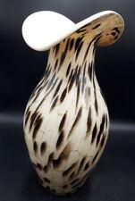 "Stunning Art Glass Gold Aventurine Flecks Vase,Ornament,15""Tall And Heavy"