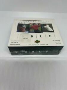 2001 Upper Deck Golf Premier Edition Sealed Wax Box Tiger Woods Rookie Card
