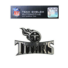 NFL Tennessee Titans Plastic Chrome Emblem Decal Size Aprx. 3 3/4 x 2 1/2 inches