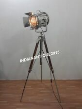 Nautical Searchlight Vintage Spotlight Floor Lamp With Tripod Stand Home Decor