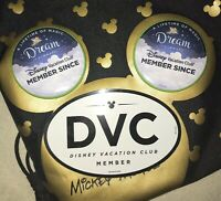 Disney Vacation Club DVC Member Authentic Oval Magnet  & Two Member Pins NEW