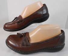 Clarks Bendables Tassel Loafers Size 7.5 M Leather Driving Walking Flats Brown