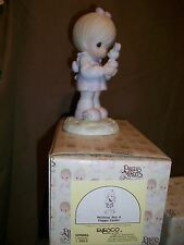 Enesco Precious Moments 109886 Wishing You A Happy Easter Girl & Bunny