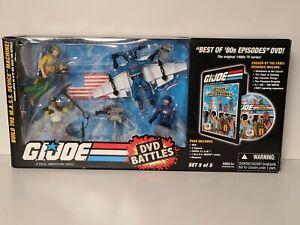 GI Joe DVD Battles Set 5 of 5 Duke Alpine Cobra Commander Cobra Trooper w/ Box