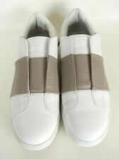 Vince Camuto Sneakers White/Beige Leather Slip On 7M *1024