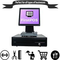 FirstPOS 12in Touch Screen Cash Register Till System Convenience/Liquor Store