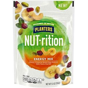 Nut-rition Energy Nut Mix Trail Mix with Cashews, Cranberries, Banana Chips,